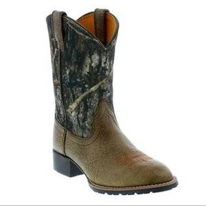 Ariat Hybrid Rancher Boots Camo Brown Leather 2Y